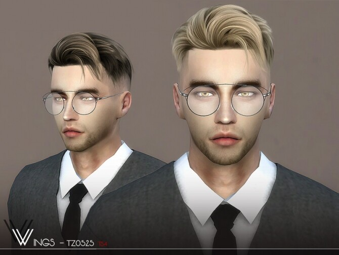 WINGS TZ0525 hair by wingssims at TSR image WINGS TZ0525 hair 670x503 Sims 4 Updates
