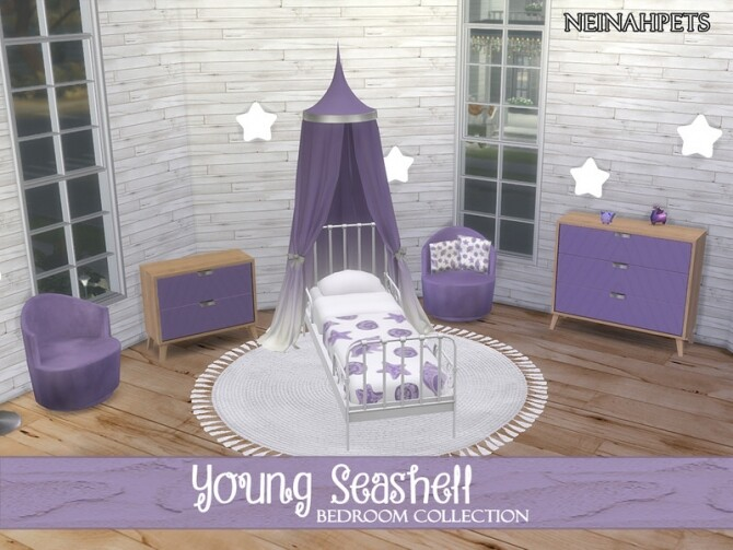 Young Seashell Bedroom Collection by neinahpets at TSR image Young Seashell Bedroom Collection by neinahpets 2 670x503 Sims 4 Updates