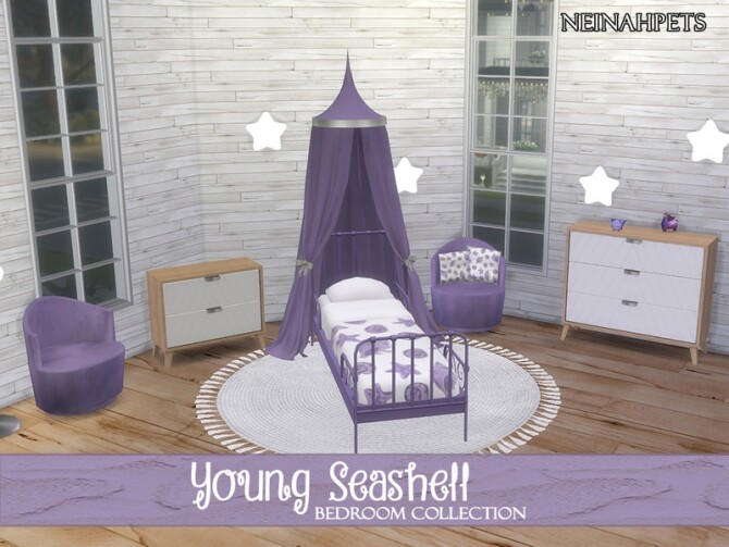 Young Seashell Bedroom Collection by neinahpets at TSR image Young Seashell Bedroom Collection by neinahpets 670x503 Sims 4 Updates