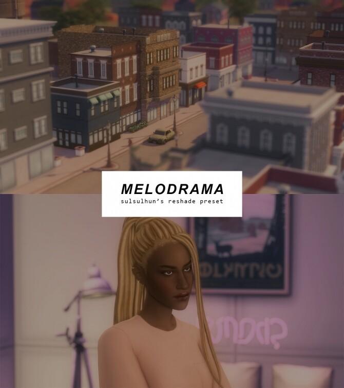 Melodrama TS4 reshade preset at Sulsulhun image melodrama ts4 reshade preset by sulsulhun 670x754 Sims 4 Updates