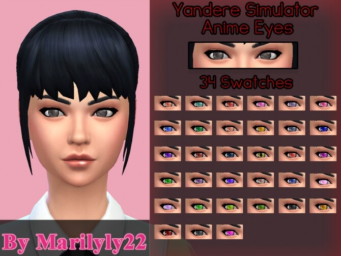 Sims 4 Anime Eyes by Marilyly22 at TSR