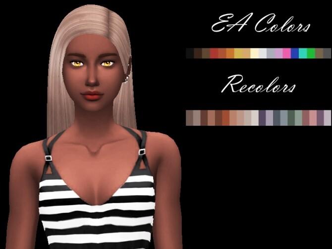 Sims 4 Danna Hair Set by Sylviemy at TSR