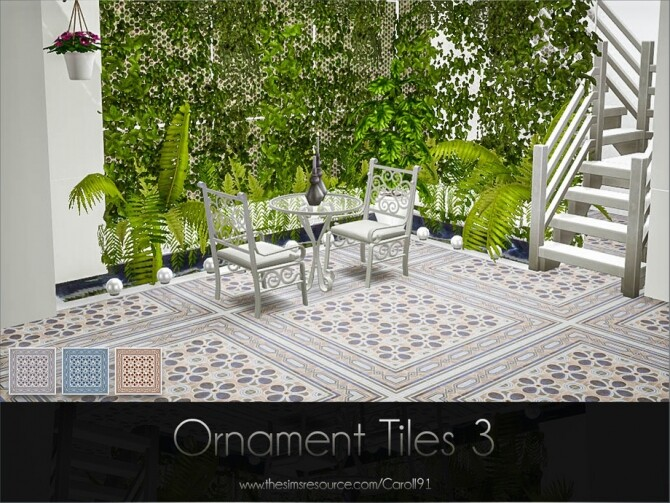 Sims 4 Ornament Tiles 3 by Caroll91 at TSR