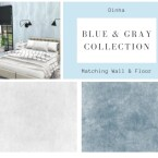 Matching Walls and Floor Blue and Gray Collection