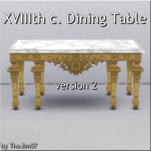 XVIIIth Dining Table by TheJim07