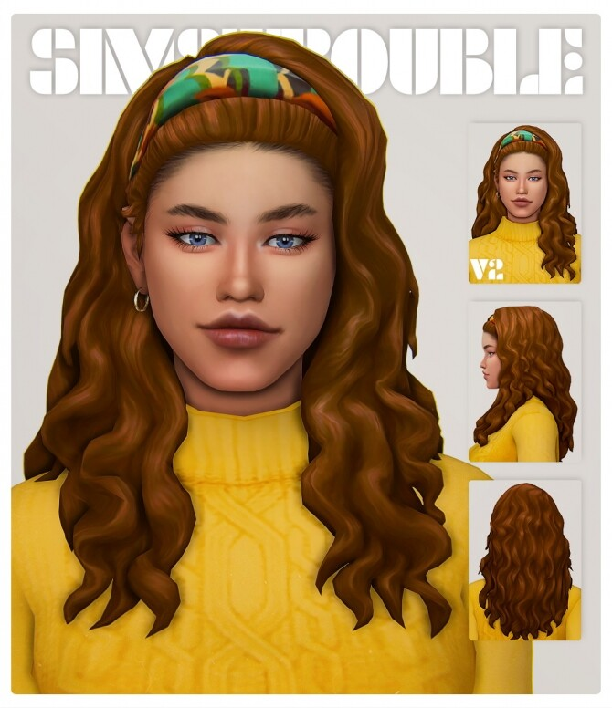 Sims 4 DARLENE hair at SimsTrouble