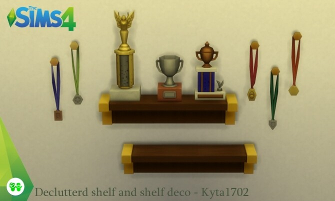 Sims 4 Declutterd shelf and deco at Simmetje Sims