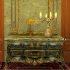 Italian Green Chinoiserie Lacquered Commode