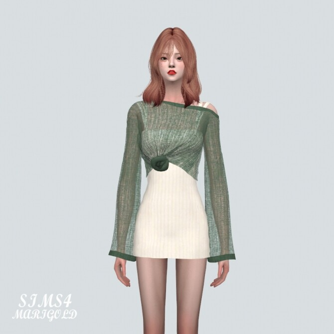 See through Knit With Mini Dress at Marigold image 1024 670x670 Sims 4 Updates
