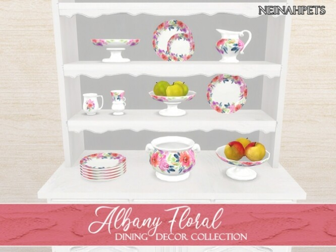 Albany Floral Dining Decor by neinahpets