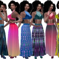 Colorful skirt set 2 by TrudieOpp