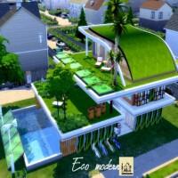 Eco modern house by GenkaiHaretsu