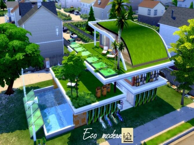 Eco modern house by GenkaiHaretsu at TSR image 1036 670x503 Sims 4 Updates