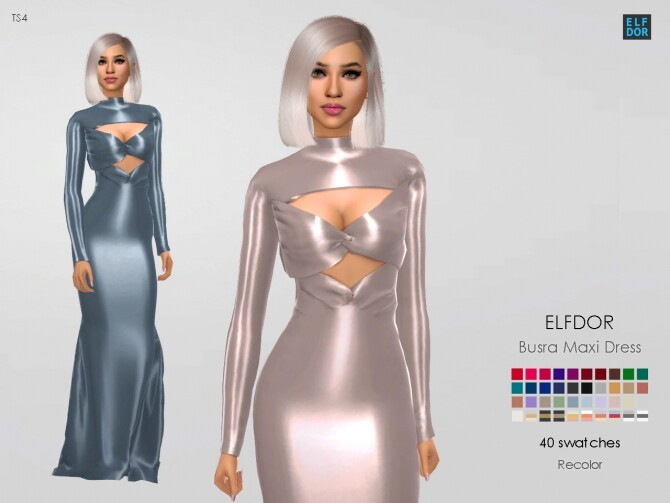 Busra tr Maxi Dress RC at Elfdor Sims image 10420 670x503 Sims 4 Updates