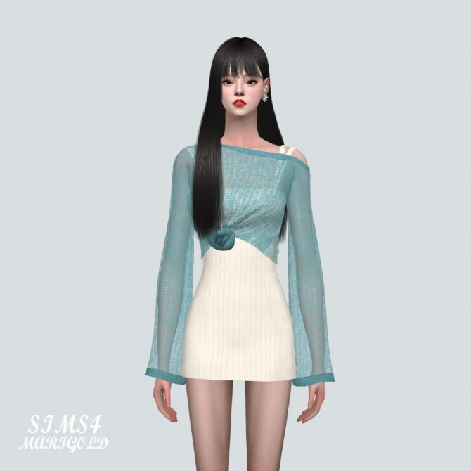 See through Knit With Mini Dress at Marigold image 1044 670x670 Sims 4 Updates