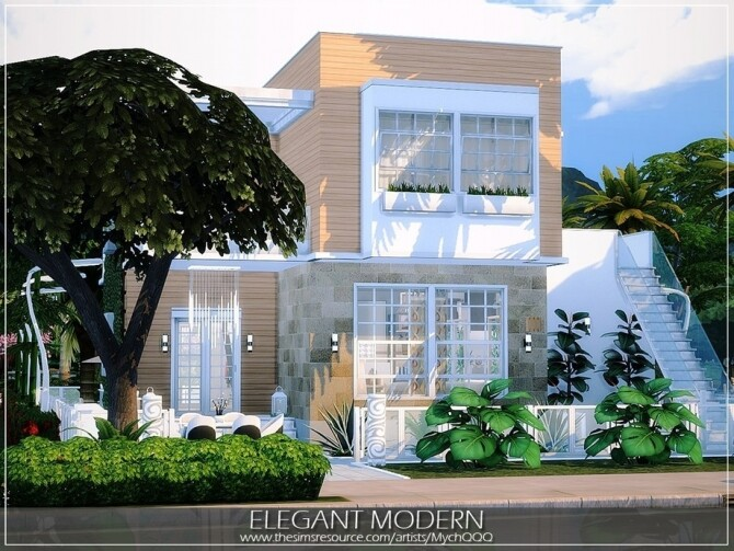 Elegant Modern House by MychQQQ at TSR image 10612 670x503 Sims 4 Updates