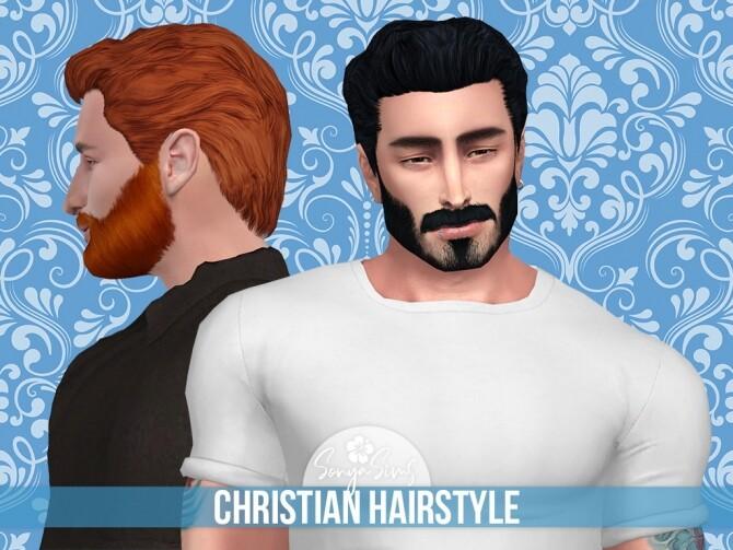 Sims 4 Christian Hair for males at Sonya Sims