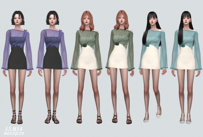 See through Knit With Mini Dress at Marigold image 1064 670x452 Sims 4 Updates