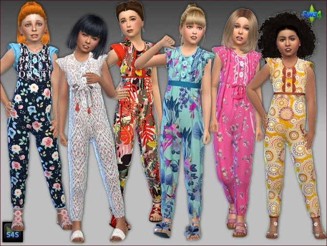 Jumpsuits for girls by Mabra at Arte Della Vita image 1065 670x503 Sims 4 Updates