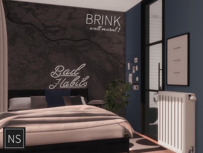 Sims 4 Brink Wall Murals by networksims at TSR