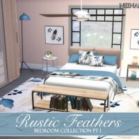 Rustic Feathers Bedroom Pt I by neinahpets