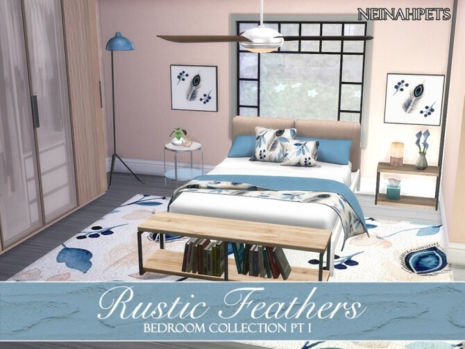 Sims 4 Rustic Feathers Bedroom Pt I by neinahpets at TSR