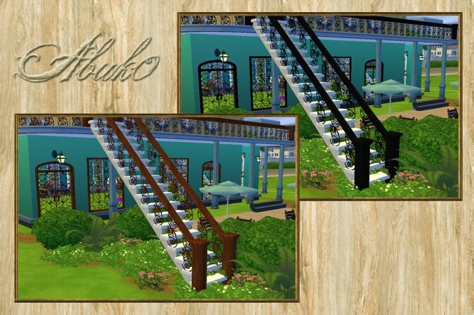 Baserria Iron: Railing, Fence and Gate at Abuk0 Sims4 image 10719 670x446 Sims 4 Updates