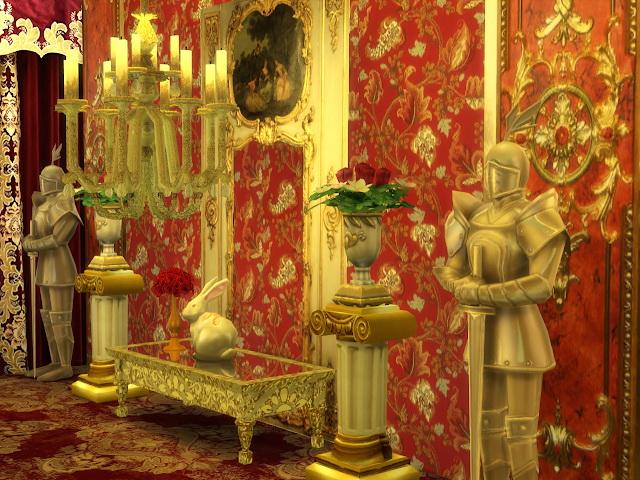 Sims 4 Roman Golden Pedestal at Anna Quinn Stories
