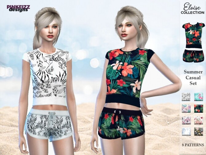 Sims 4 Eloise Summer Set by Pinkfizzzzz at TSR