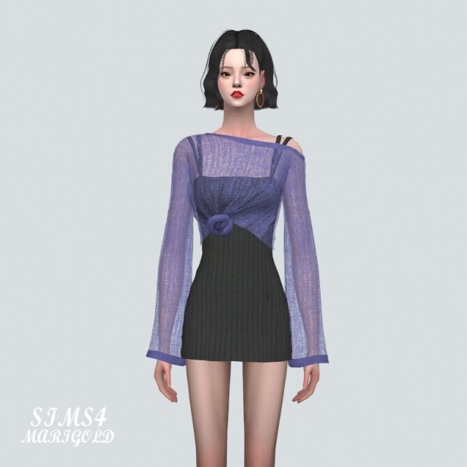 See through Knit With Mini Dress at Marigold image 1074 670x670 Sims 4 Updates