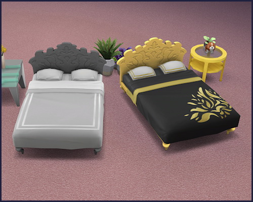 Sims 4 Bed frame recolors at CappusSims4You