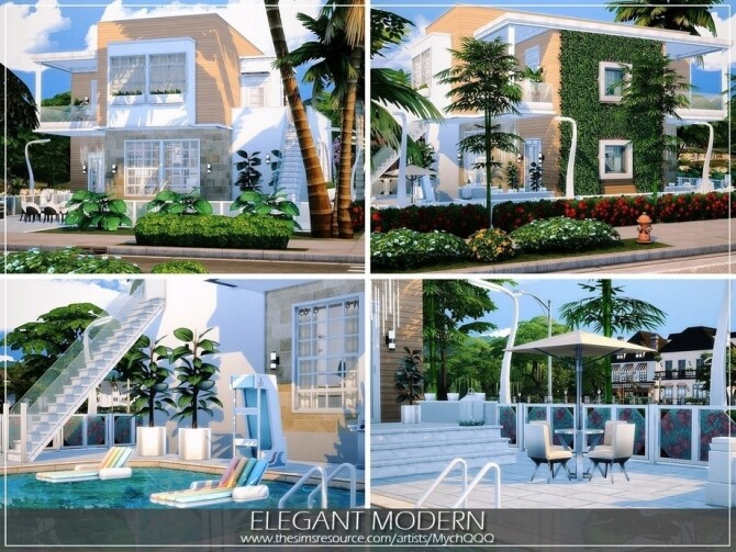 Elegant Modern House by MychQQQ at TSR image 10812 670x503 Sims 4 Updates