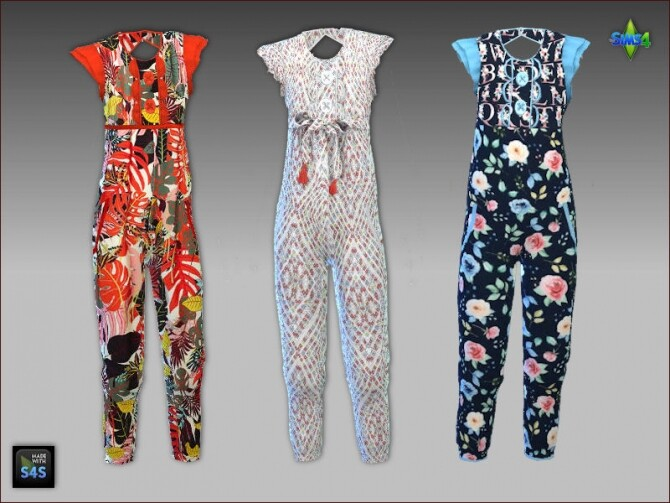 Jumpsuits for girls by Mabra at Arte Della Vita image 1085 670x503 Sims 4 Updates