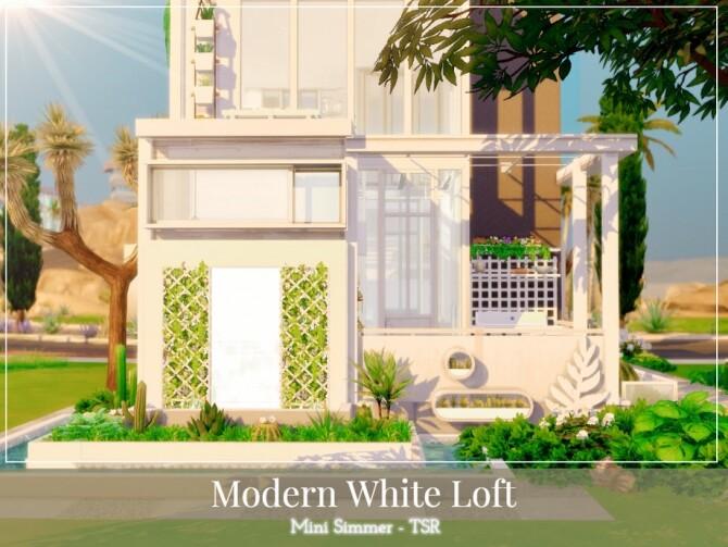 Sims 4 Modern White Loft by Mini Simmer at TSR