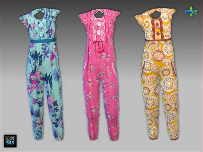 Jumpsuits for girls by Mabra at Arte Della Vita image 1095 670x503 Sims 4 Updates