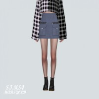 Military Look Mini Skirt