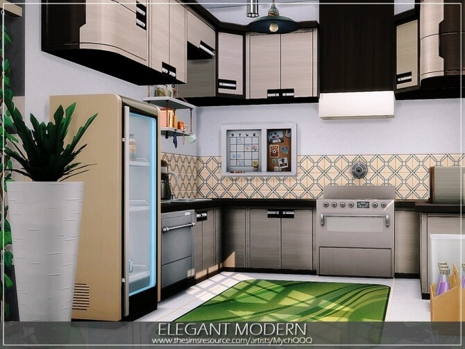 Elegant Modern House by MychQQQ at TSR image 11015 670x503 Sims 4 Updates
