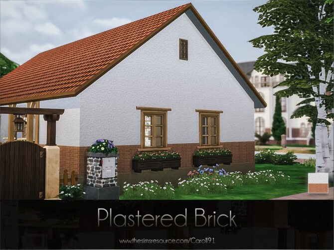 Sims 4 Plastered Brick Created by Caroll91 at TSR