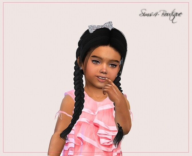 Sims 4 Designer Dress for Toddler Girls TS4 at Sims4 Boutique