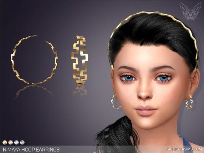 Sims 4 Nimaya Hoop Earrings For Kids at Giulietta