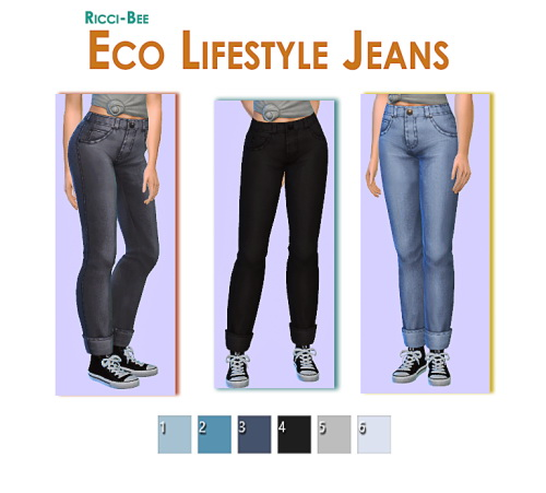 Sims 4 Eco LifeStyle Jeans Re Texture at Ricci Bee