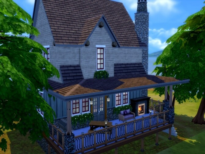 Sims 4 Deep in the woods house by GenkaiHaretsu at TSR