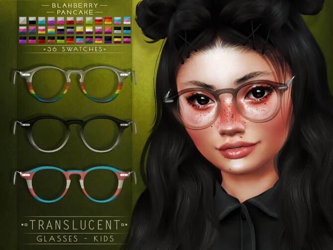 Translucent glasses for kids at Blahberry Pancake image 11214 670x503 Sims 4 Updates