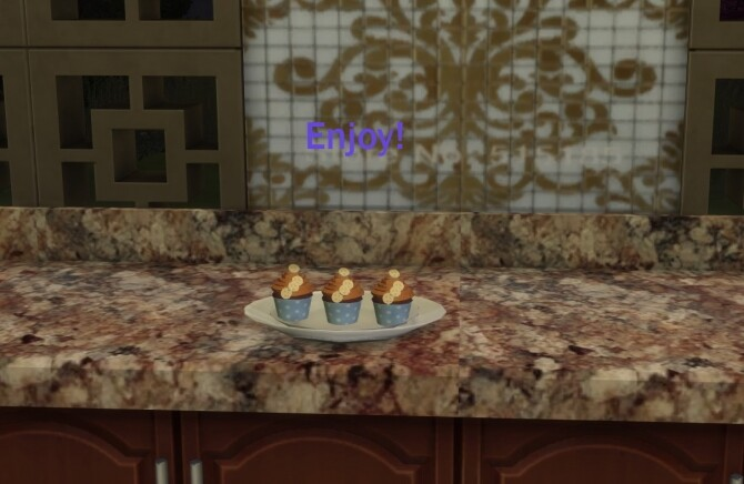 Sims 4 Banana Cinnamon Dolce Cupcakes by Laurenbell2016 at Mod The Sims