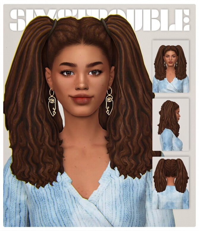 Sims 4 TILLY hair at SimsTrouble