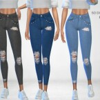 So Distressed Pants by Puresim