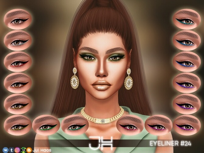 Sims 4 EYELINER #24 by JUL HAOS at TSR
