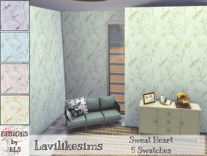 Sims 4 Sweetheart wallpaper by lavilikesims at TSR