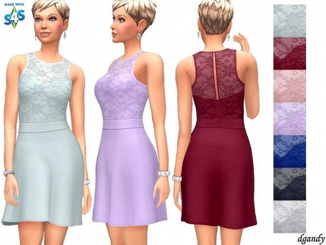 Sims 4 Maria B dress by carvin captoor at TSR
