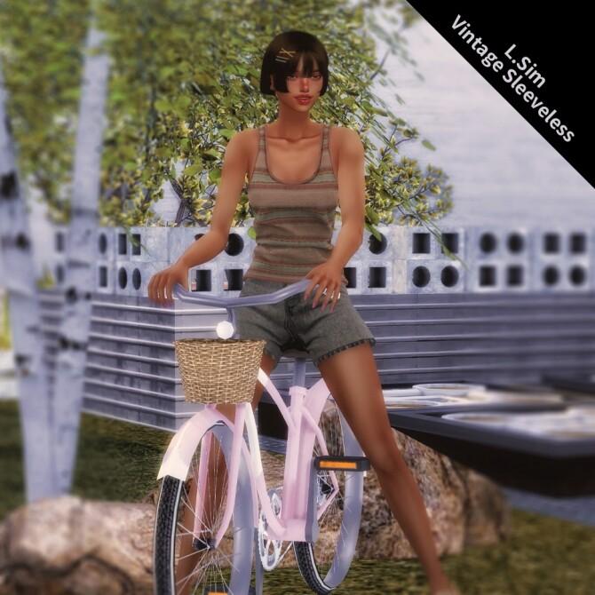 Sims 4 Vintage sleeveless top at L.Sim